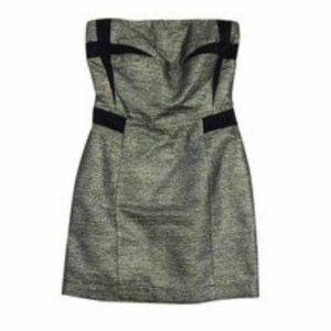 metallic SEE BY CHLOE dress strapless shift 2